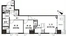 ルフォン白金台 ザ・タワーレジデンス 4階2LDKの間取り