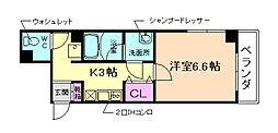プライムコート池田[5階]の間取り