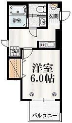 JR山手線 原宿駅 徒歩7分の賃貸マンション 3階1Kの間取り