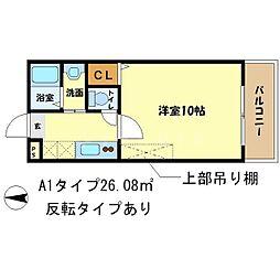 京洛マンション[1階]の間取り