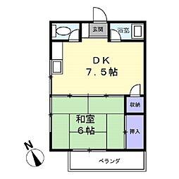 角井ハイツ[2階]の間取り