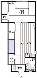 第1フェリスコーポ[203号室]の間取り