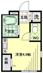 東京都墨田区八広6丁目の賃貸アパートの間取り