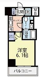東急東横線 反町駅 徒歩3分の賃貸マンション 8階1Kの間取り