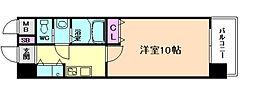 エス・キュート平野町[3階]の間取り