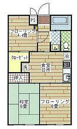 カームネス豊田[1階]の間取り