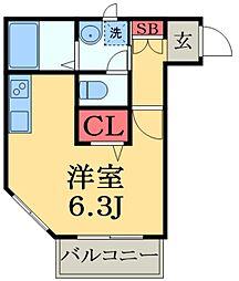 千葉県市原市五井中央西3丁目の賃貸アパートの間取り