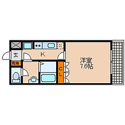 滋賀県長浜市西上坂町の賃貸アパートの間取り