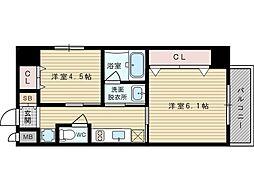 エステムコート新大阪Xザ・ゲート[10階]の間取り