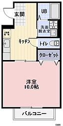 愛知県豊田市宝町庚申塚の賃貸アパートの間取り