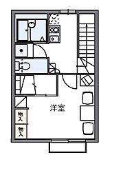 愛知県蒲郡市三谷町七舗の賃貸アパートの間取り