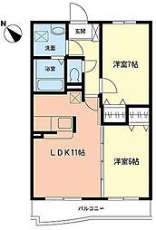 オレアリア鎌倉[3階]の間取り