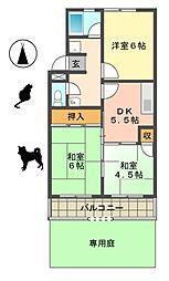 第2マンション郷[103号室]の間取り