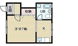 ハイムマツダ1号館[5階]の間取り