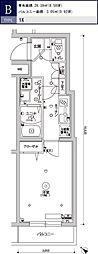 スカイコートパレス駒沢大学II 3階1Kの間取り