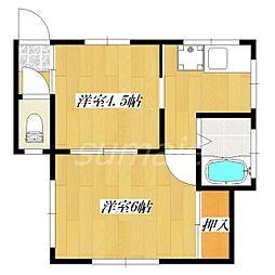 エムハウス[2F 号室]の間取り