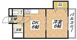 大阪府大阪市平野区加美鞍作2丁目の賃貸マンションの間取り
