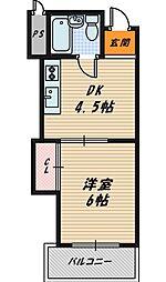 シャトー野江[5階]の間取り