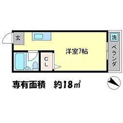 メゾンKOYO[5階]の間取り