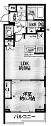 JR中央線 西荻窪駅 徒歩11分の賃貸マンション 1階1LDKの間取り
