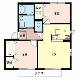 シャーメゾンキティーA棟[1階]の間取り