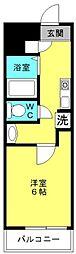 セシール鴨池[203号室]の間取り
