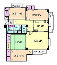 豊中ホームズ[1階]の間取り
