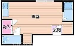 大阪府吹田市千里山高塚の賃貸アパートの間取り