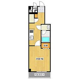 JR総武線 新小岩駅 徒歩11分の賃貸マンション 1階1Kの間取り