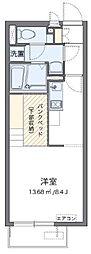 東武東上線 ふじみ野駅 バス17分 緑ヶ丘一丁目下車 徒歩2分の賃貸アパート 2階1Kの間取り