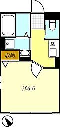 T-net アシュー[101号室]の間取り