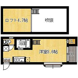 ソフィー箱崎[101号室]の間取り