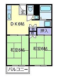 ツジモトハイツ[1階]の間取り