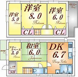 [一戸建] 兵庫県神戸市垂水区上高丸3丁目 の賃貸【/】の間取り