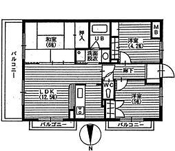 ピアチェーレ宮前平[3階]の間取り