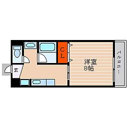 滋賀県彦根市平田町の賃貸アパートの間取り