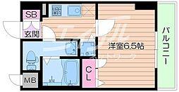 ララプレイス ザ・京橋ステラ 4階1Kの間取り