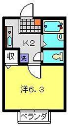 マルト弐番館[1階]の間取り