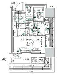 ローレルタワー ルネ浜松町 4階ワンルームの間取り