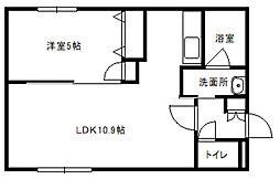 HalleyView東札幌(ハレービュー)[202号室]の間取り