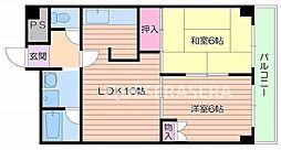 大阪府大阪市北区大淀南3丁目の賃貸マンションの間取り