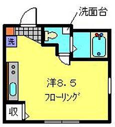 神奈川県横浜市南区榎町1丁目の賃貸マンションの間取り