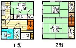 [テラスハウス] 福岡県福岡市南区野多目5丁目 の賃貸【/】の間取り