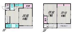 [一戸建] 東京都大田区大森東3丁目 の賃貸【/】の間取り