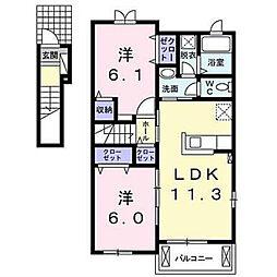 CAROL II[2階]の間取り