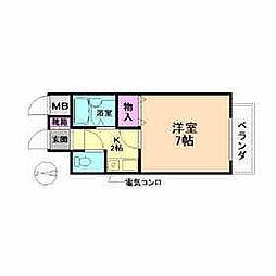 ファミーユ松本[3階]の間取り