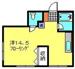 レガーロ横濱[201号室]の間取り