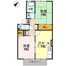 ファミールSAITO B[2階]の間取り