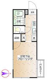 東京都中野区大和町4丁目の賃貸アパートの間取り