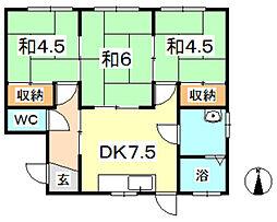 [一戸建] 岡山県岡山市北区撫川 の賃貸【/】の間取り